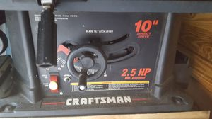 Craftsman table saw for Sale in New Port Richey, FL