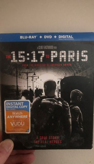 15:17 to Paris Blue-Ray Movie for Sale in Pittsburgh, PA