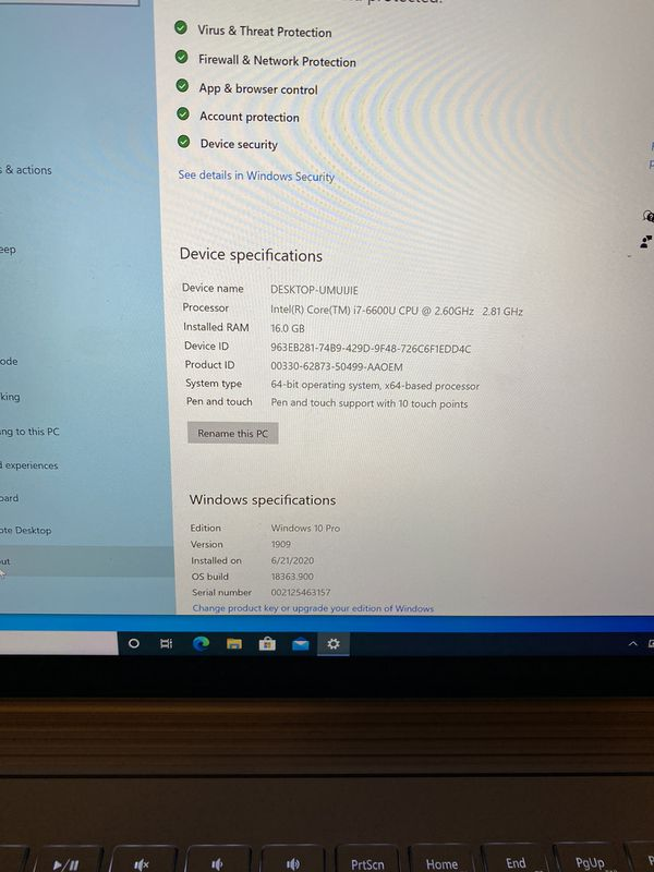 Lightly Used Surface Book Intel (R) Core (TM) i7-6600U CPU