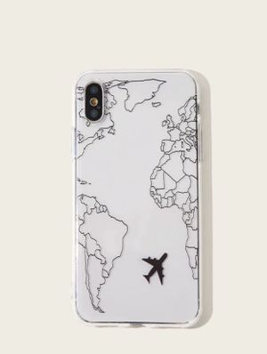 Map & Airplane Pattern iPhone Case for Sale in Portland, OR