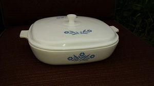 Corningware Cornflower ceramic covered dish for Sale in Indianapolis, IN