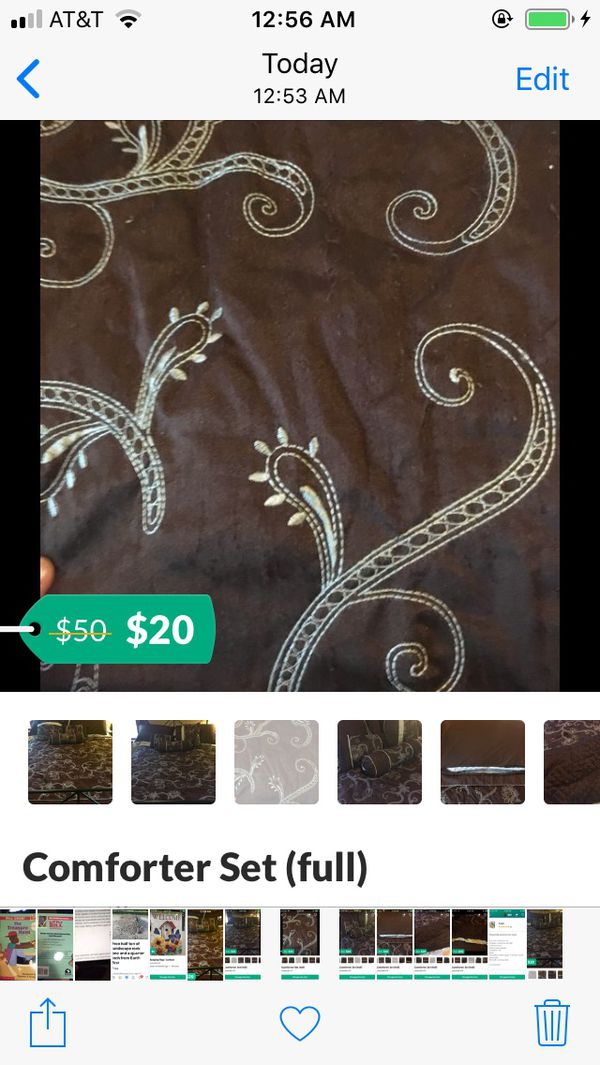 Full size comforter with pillows see last pic for color