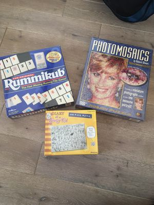 Puzzles x 2 and Rummikub game for Sale in Woodland Hills, CA