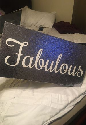 """Sequenced """"Fabulous"""" room Decor for Sale in Fresno, CA"""