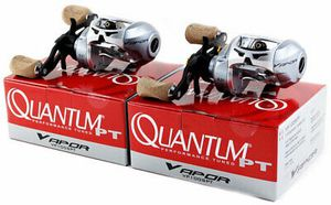 2 Quantum Vapor VP100SPT 6:3.1 GR right hand baitcaster baitcast fishing reel 11 ball bearings for Sale in Litchfield Park, AZ