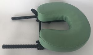 Black Plastic Green Faux Leather Headrest For Massage Table for Sale in San Diego, CA