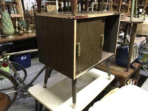 Small cupboard shelf midcentury modern storage four legs for Sale in Latrobe, PA