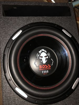 Boss subwoofer 2300w for Sale in Aspen Hill, MD