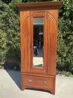Art Deco Armoire With Mirror for Sale in Orange,  CA