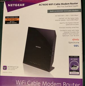 Brand New... NetGear AC1600 WIFI Cable Modem Router...$100 for Sale in Morrow, GA