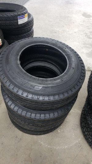 700 15 NEW TRAILER TIRES FOR 80 EACH WITH EVERYTHING INCLUDED TAX INCLUDED FINANCING AVAILABLE NO CREDIT CHECK 90 DAYS SAME AS CASH for Sale in Houston, TX