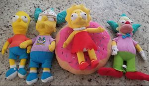 Simpsons Plushies for Sale in Hemet, CA