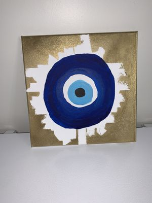 Greek evil eye acrylic painting for Sale in Gainesville, VA