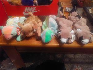 Beanie babies 5.00 ea for Sale in Willingboro, NJ