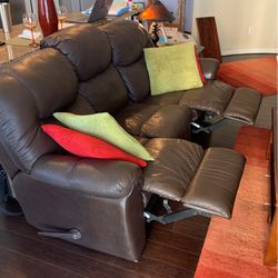 Brown Leather Couch With Built In Recliners for Sale in Austin,  TX