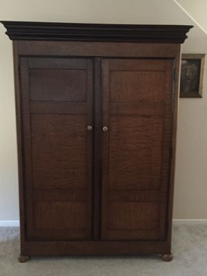 Antique French curly cumin wood armoire for Sale in San Diego, CA