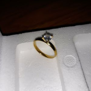 18 K Gold Plated Engagement Ring, Size 9. for Sale in Dallas, TX