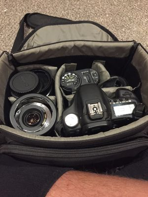 Canon eos 50d with lenses and accessories for Sale in Stafford Courthouse, VA