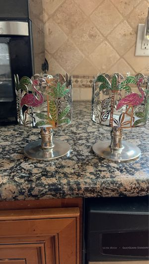 Flamingo Bath and Body Works Candle Holders set for Sale in Riverside, CA