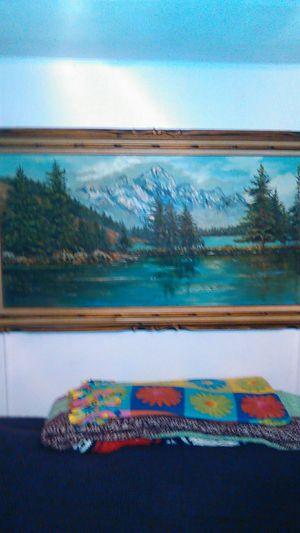 Landscape painting done by my mother in a 1980s for Sale in Suffield, CT