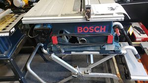 Bosch TS 2000 table saw on stand with wheels for Sale in Seattle, WA