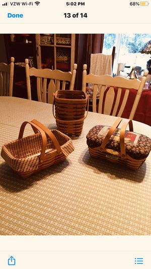 3 Longaberger Baskets for Sale in White Haven, PA