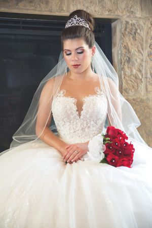Elegant Floral Ballgown Wedding Dress for Sale in Austin, TX