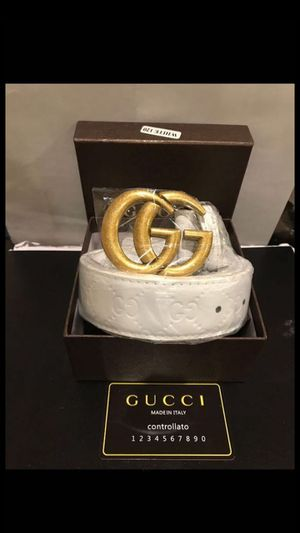 All White Gucci belt for Sale in West Palm Beach, FL