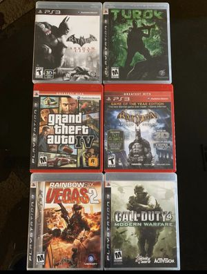 6 PS3 games, $10 each or $50 for all for Sale in Naples, FL