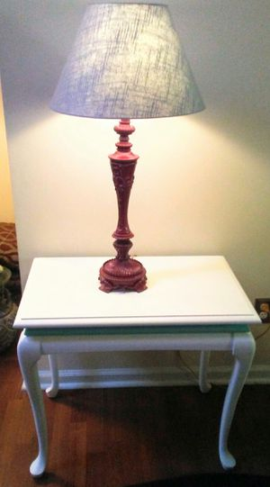 Maple table and lamp combination for Sale in Virginia Beach, VA