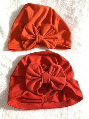 6/12mo bow turban $5 each red and orange for Sale in National City, CA