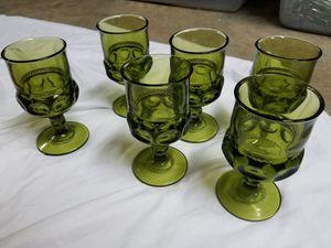 Vintage glassware - set of 6 for Sale in Kensington, MD