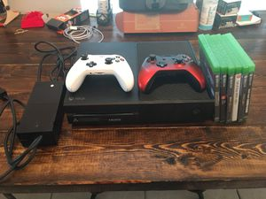Xbox One 500gb, 2 Wireless Controllers, 6 Games, & Warranty for Sale in Oviedo, FL