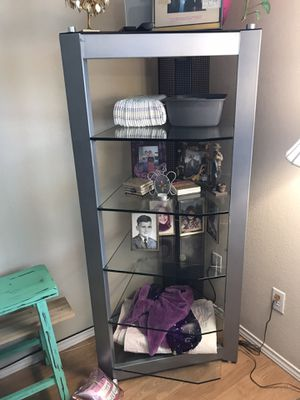 Glass Shelving Unit for Sale in Round Rock, TX