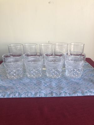 Two sets of beautiful vintage glasses for Sale in San Jose, CA