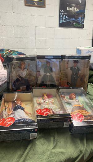 I love Lucy Barbie new in box lot of 6 Mattel for Sale in Santa Fe Springs, CA