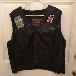 Genuine Leather Motorcycle Vest XL for Sale in Stockbridge, GA