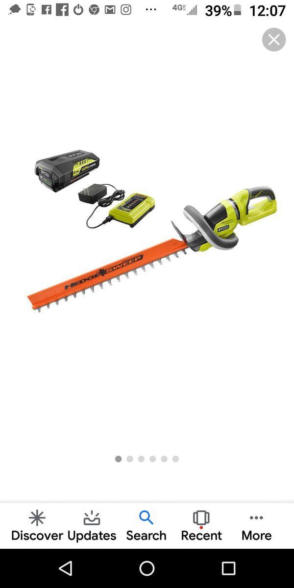 Ryobi 22 inch blade hedge trimmers