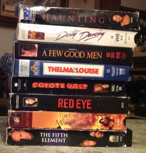 VHS 8 for 10 or 2 each for Sale in Reedley, CA