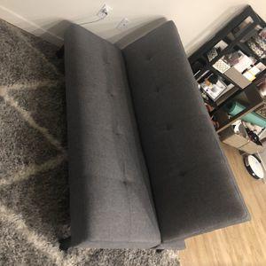 Gray Tufted Comfortable Sofa Futon for Sale in San Mateo, CA