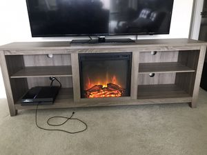 TV STAND WITH FIREPLACE for Sale in Modesto, CA
