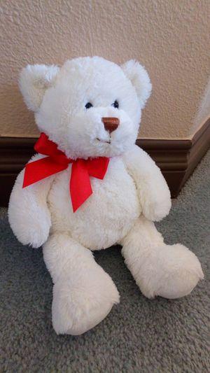 "White stuffed bear plush 11"" for Sale in San Jacinto, CA"