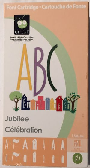 JUBILEE font and shape cricut cartridge - not LINKED for Sale in Tustin, CA