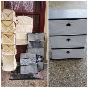 Shoes/clothes organizer, rolling storage for Sale in Olympia, WA