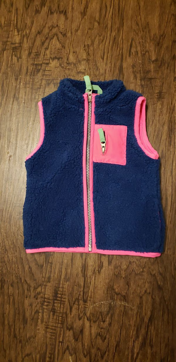 Carters Navy with hot pink vest !