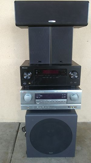 Sherwood , pioneer hdmi receiver Polk audio center and rears with klh 12inch powered sub for Sale in Mesa, AZ