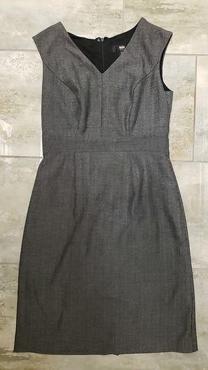Mossimo stretch size 6 heathered gray zip-up versatile dress goth punk baby doll Halloween costume drag for Sale in Scottsdale, AZ