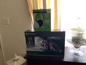 Xbox One X w/ Turtle Beach Stealth 600 Headset & Games! for Sale in Clovis, CA