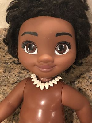 """Disney Moana 12"""" baby toddler in swimsuit with necklace hard plastic doll for Sale in Phoenix, AZ"""