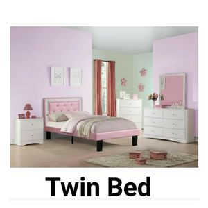 Pink Twin bed frame only... $239 with mattress, Firm price for Sale in Nellis Air Force Base, NV